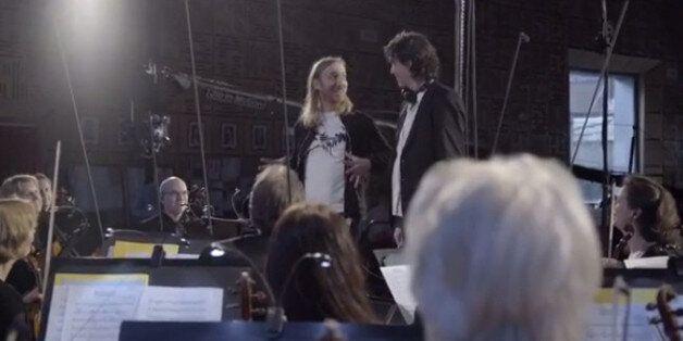 David Guetta et l'orchestre pour la version orchestrale