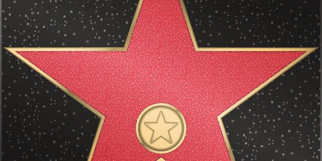 Red marble star with a metal loop and