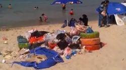 Cette vidéo fait état de la saleté qui dénature certaines plages en Tunisie