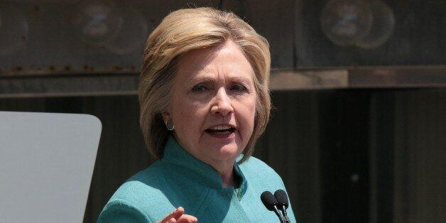 ATLANTIC CITY, NJ - JULY 06: Presumptive Democratic presidential nominee Hillary Clinton speaks at the...