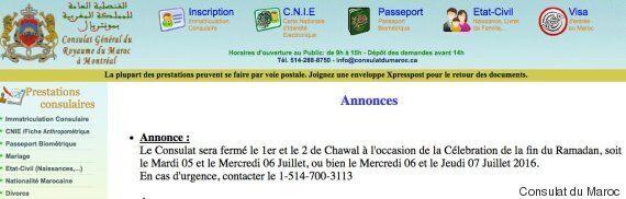 Consulats du Maroc: Tristes