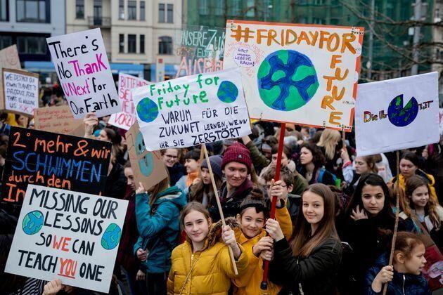 グレタ・トゥーンベリさんの活動が発端となった地球温暖化対策を訴える抗議運動 2018年3月22日(ベルリン)