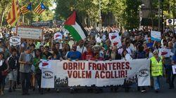 Une marche à Barcelone pour l'accueil des