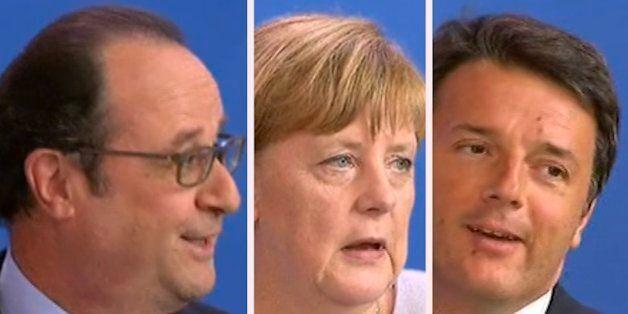 La petite blague de Renzi sur l'Euro fait sourire Hollande...mais pas