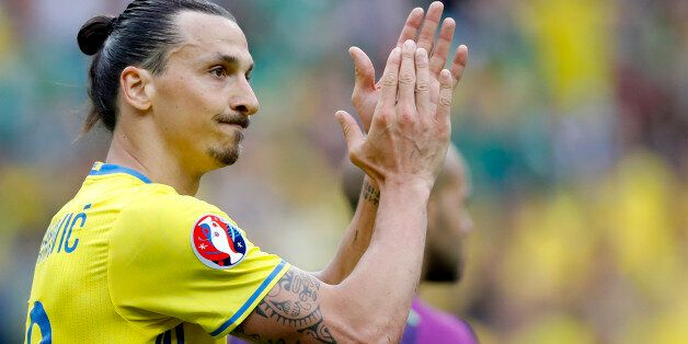 FILE - In this Monday, June 13, 2016 file photo, Sweden's Zlatan Ibrahimovic applauds during the Euro...
