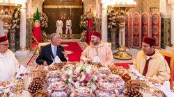 Le roi et le président portugais autour d'un f'tour
