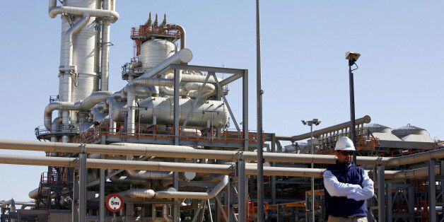 A technician stands at the Krechba gas treatment plant, south of Algiers, December 14, 2008. REUTERS/Zohra...