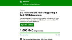 Un million de Britanniques réclament un 2e référendum sur le