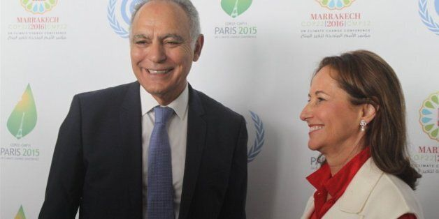 Le ministre des Affaires étrangères Salaheddine Mezouar et la ministre français de l'Environnement Ségolène...