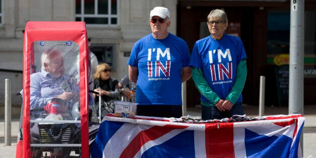 Campaigners for 'Britain Stronger in Europe', the official 'Remain' campaign group stand by their stand...