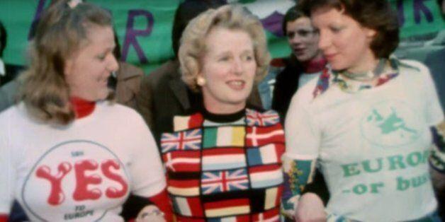 Margaret Thatcher avec son pull pro