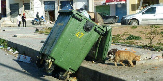 Une poubelle au Maroc