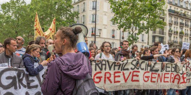 Une manifestation à Paris contre la réforme de la loi de travail, le 14 juin 2016 (Photo: Willi Effenberger/Pacific...