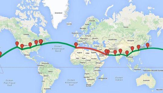 Le chemin déjà parcouru par Solar Impulse et celui qu'il lui reste à