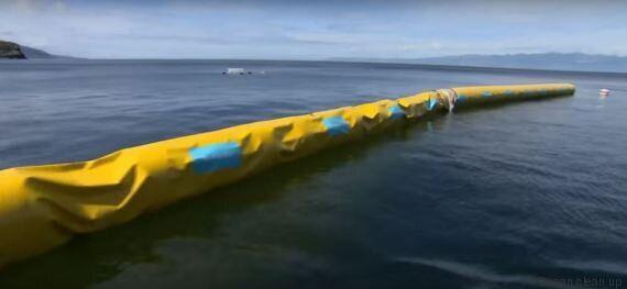 Ocean cleanup, le prototype pour dépolluer les océans, a été