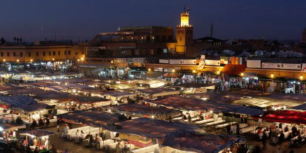 A view of Djamaa Lafna square and its restaurants in Marrakesh's old city December 18, 2014. Picture...