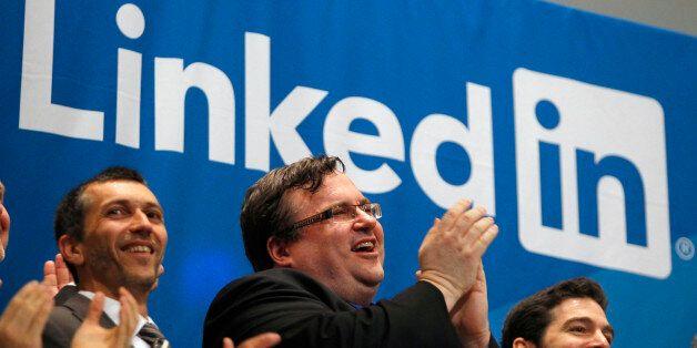 Le cofondateurs de Linkedin Reid Garrett Hoffman lors de l'introduction en bourse de LinkedIn à la New...