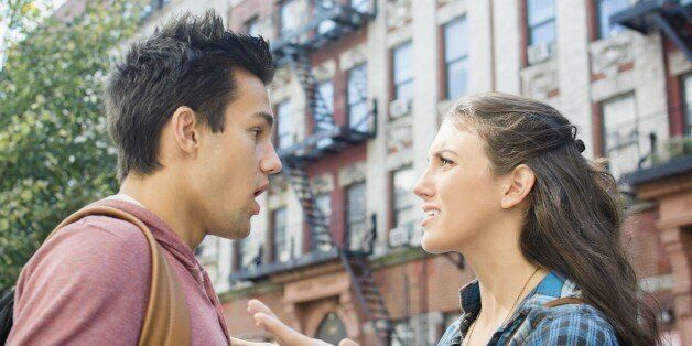 USA, New York State, New York City, Brooklyn, Young couple having relationship