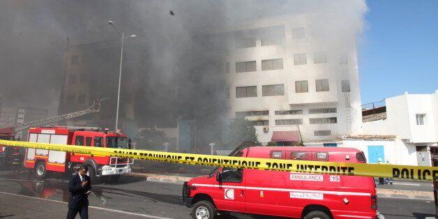 Les photos du gigantesque incendie d'un entrepôt à