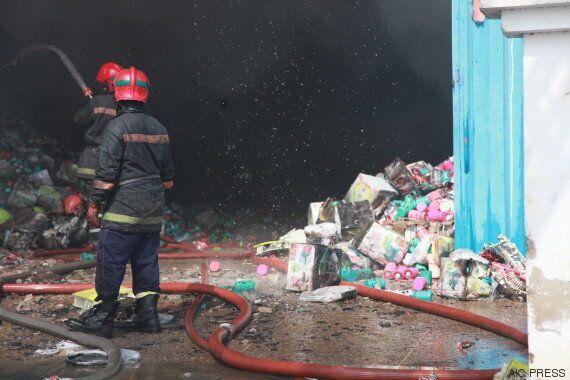 Gigantesque incendie dans un entrepôt à Casablanca