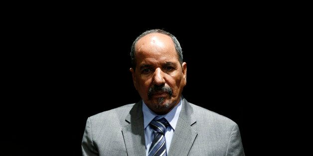 Western Sahara's Polisario Front President Mohamed Abdelaziz listens to a question during an interview...
