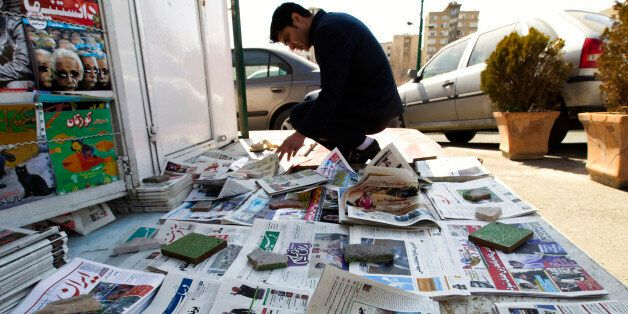 EDITORS' NOTE: Reuters and other foreign media are subject to Iranian restrictions on leaving the office...