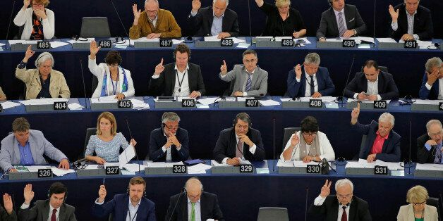 Members of the European Parliament take part in a voting session in Strasbourg, France, June 7, 2016....