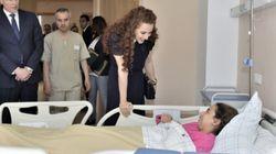 Lalla Salma pose la première pierre du Centre d'oncologie