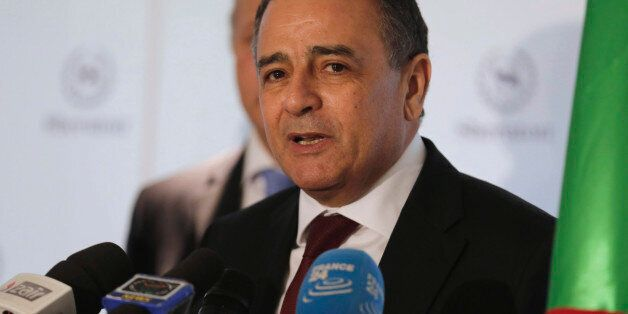 Algeria's Industry Minister Abdeslam Bouchouareb addresses a news conference in Oran, west of Algiers...