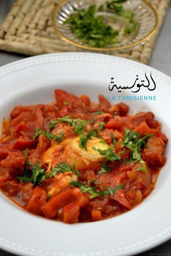 La recette de la chakchouka tunisienne aux poivrons