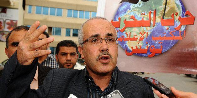 The spokesman of the new Tunisian Islamist Salafist Ettahrir Party (Liberation Party), Ridha Belhaj ,...