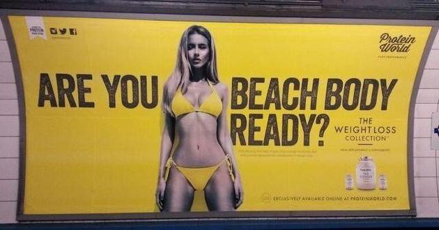 Les publicités avec des corps