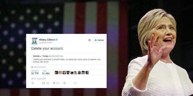 La punchline cinglante de Hillary Clinton à la dernière attaque de Donald Trump sur