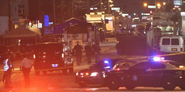 Des véhicules de police devant le night club de Orlando, le 12 juin