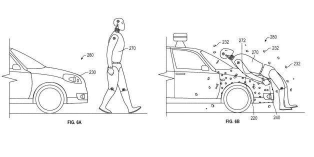 L'étrange brevet pour la Google car en cas