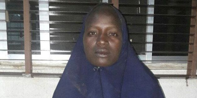 An undated picture released on May 19, 2016 by the Nigerian army of the second rescued Chibok schoolgirl...