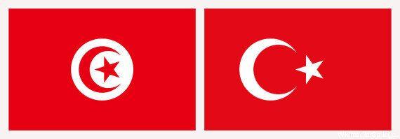 Le drapeau tunisien et le drapeau turc une nouvelle fois confondus à Montréal, sous les yeux Quartet...