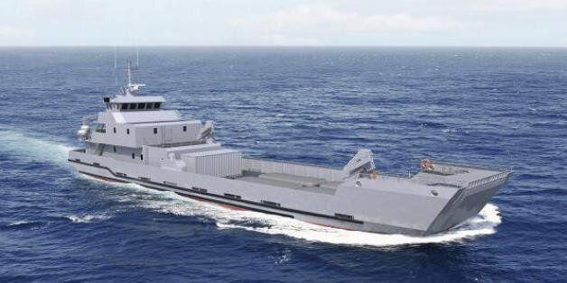 Un modèle de navire semblable à celui commandé par le