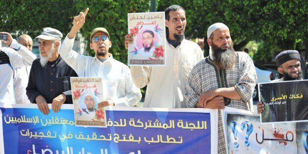 16 mai: Les proches des détenus salafistes manifestent à Rabat