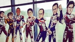 Pour le G7 au Japon les dirigeants ont été accueillis par des super-héros à leur
