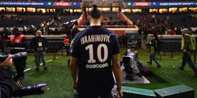 Zlatan Ibrahimovic après PSG-Nantes le 14 mai