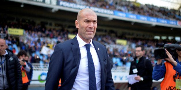 Football Soccer - Spanish Liga BBVA- Real Sociedad v Real Madrid - Anoeta, San Sebastian, Spain 30/4/16...