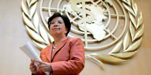La directrice générale de l'Organisation mondiale de la santé Margaret Chan intervient lors de l'Assemblée...