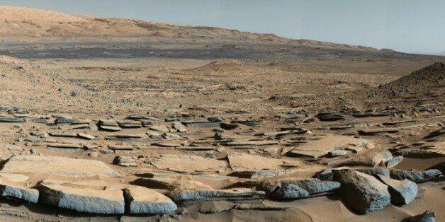 Image transmise par la Nasa le 9 octobre 2015 prise par le robot Curiosity sur