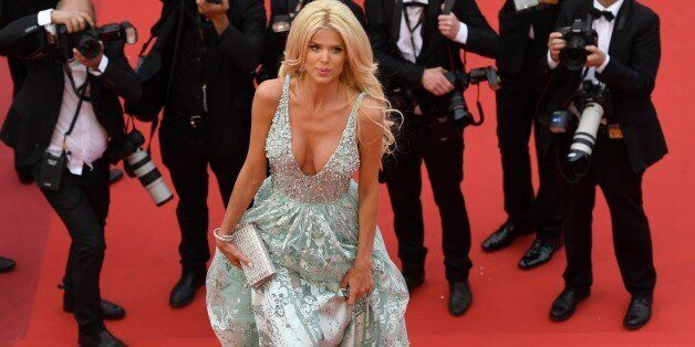 Swedish model and actress Victoria Silvstedt arrives on May 13, 2016 for the screening of the film 'Ma...