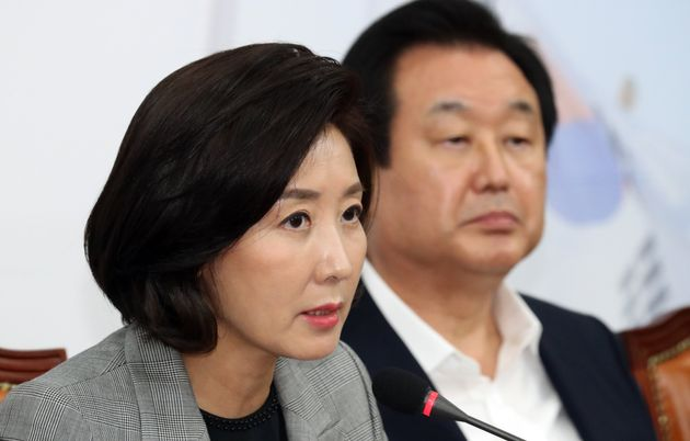 나경원 자유한국당 원내대표가 25일 서울 여의도 국회에서 열린 중진의원 연석회의에서 모두발언을 하고