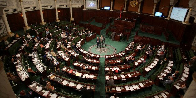 A general view shows the Assembly of the Representatives of the People in Tunis, Tunisia, May 10, 2016....