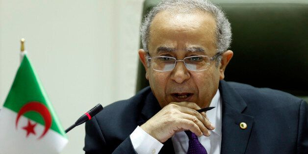 Algeria's Foreign Minister Ramtane Lamamra attends a joint news conference with Saudi Foreign Minister...