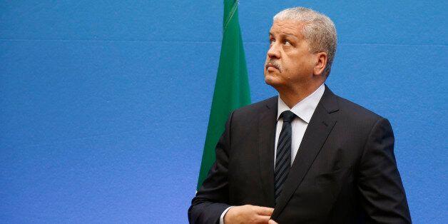 Algeria's Prime Minister Abdelmalek Sellal attends a Franco-Algerian summit at the Hotel Matignon in...