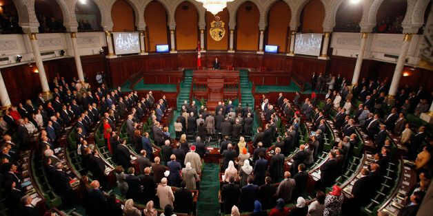 A general view of Tunisia's Constituent Assembly is seen in session in Tunis December 2, 2014. Tunisia's...